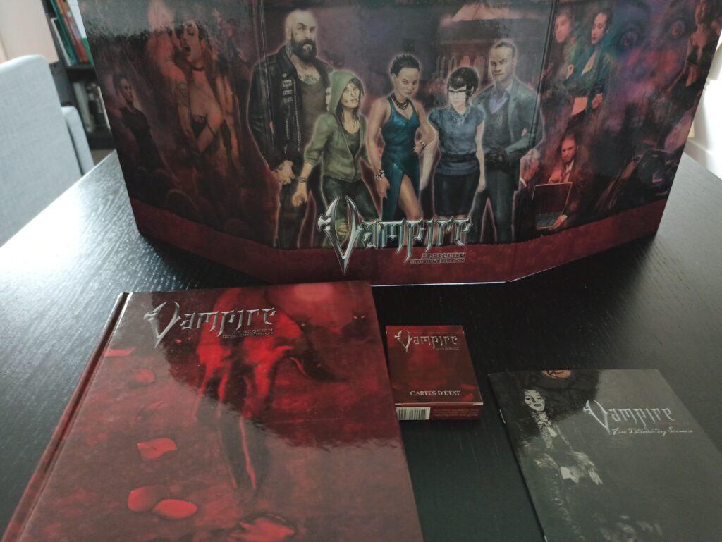 Ecran et livre de base de Vampire Requiem seconde édition