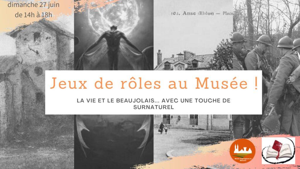Manifestation de jeu de rôle au musée Engrangeons la Mémoire à Anse par Octaèdre Ludique